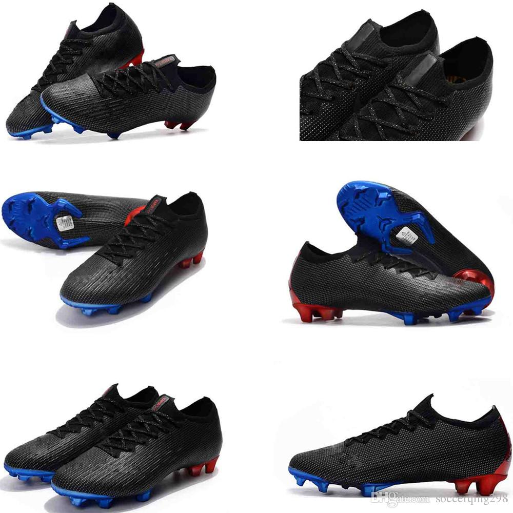quality design 352d0 194e6 Mens Low Ankle Football Boots Mercurial x PSG XII Ultra Elite FG Soccer  Shoes Cristiano Ronaldo CR7 Superfly 360 Neymar ACC Soccer Cleats