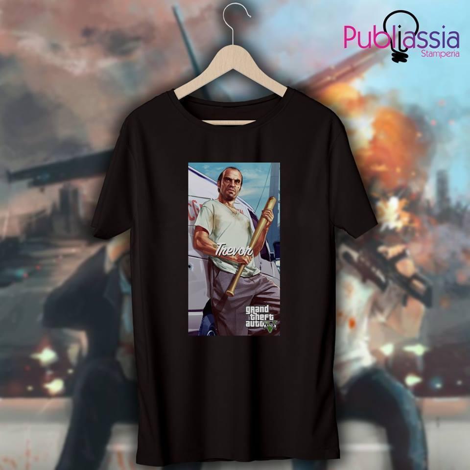 GTA 5 T-shirt maglietta 14 Grand Theft Auto vice city Trevor ps4 xbox  regaloFunny free shipping Unisex Casual Tshirt top