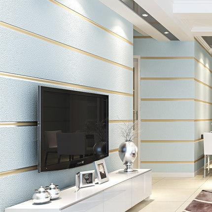 Großhandel 3D Vliestapete Modern Minimalist Striped ...