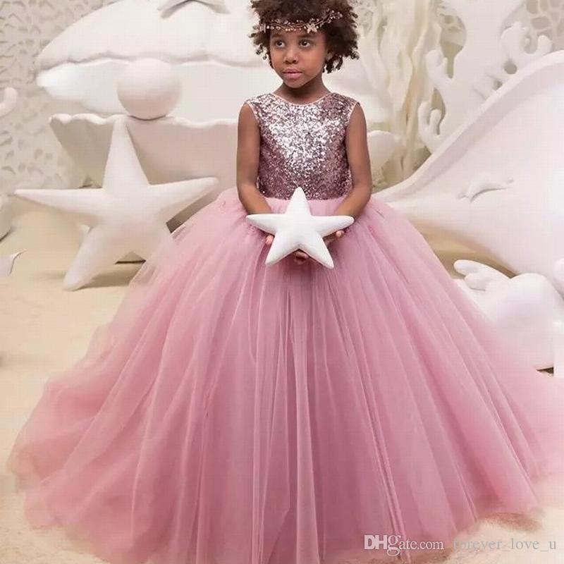 ... Vestito Formale Fiore Ragazza Abiti Gioiello Collo Paillettes Top Gonna  In Tulle Principessa Bambini Abito Con Applicazioni Floreali 3d A  81.16 Dal  ... ac3634fc1bfb