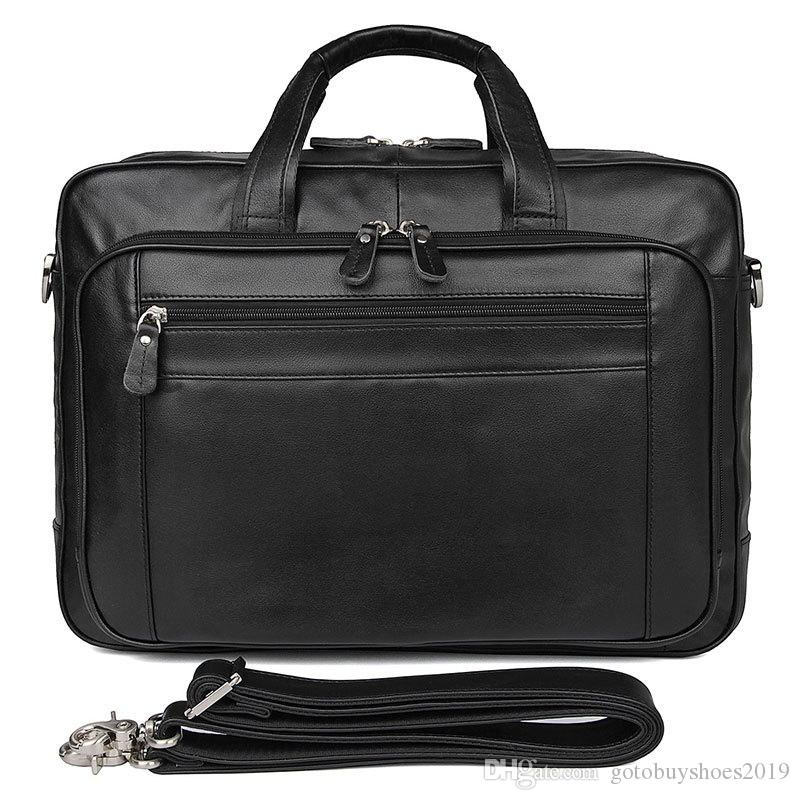 1bfc99c5d 17 Inch Men's Leather Business Bag Top Layer Leather Briefcase 725-40 Large  Handbag Computer Bag Men's Messenger Briefcase #706174