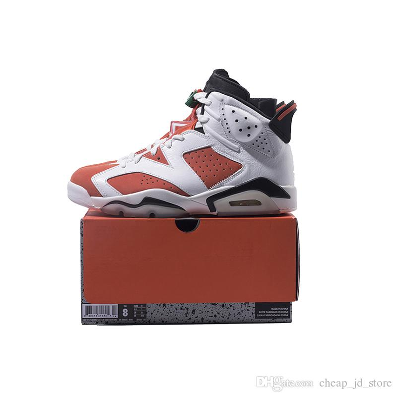 c61408394307e5 Gatorade 6 Mens Basketball Shoes 6s Summit White Team Orange Black Women  Outdoor Sports Sneakers Size 5.5 13 With BOX Athletic Shoes Shoes Online  From ...