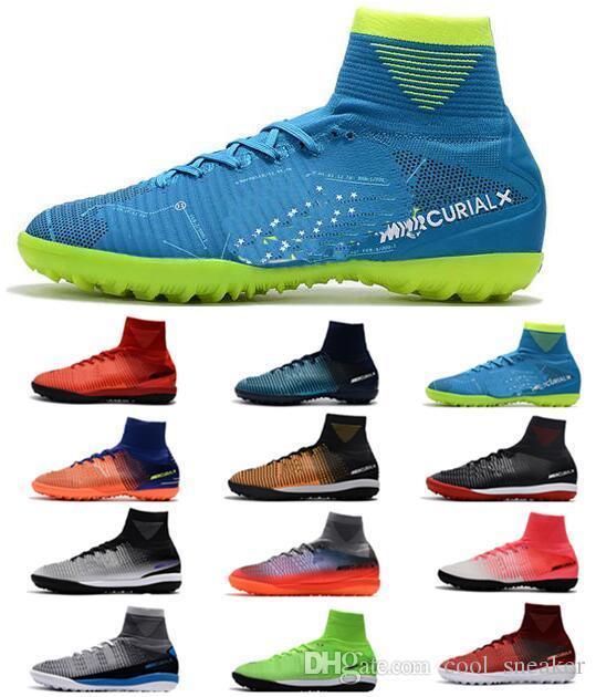 ec4a84ad3d36 2018 Cheap CR7 Mercurial Superfly V SX Neymar TF Men s Soccer Shoes ...