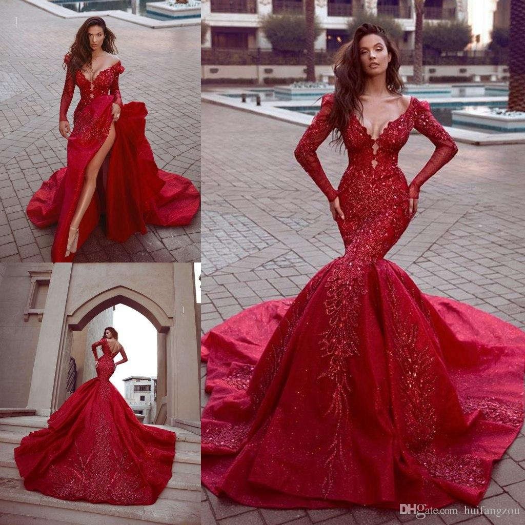 Long Red Pagent Dresses 2019