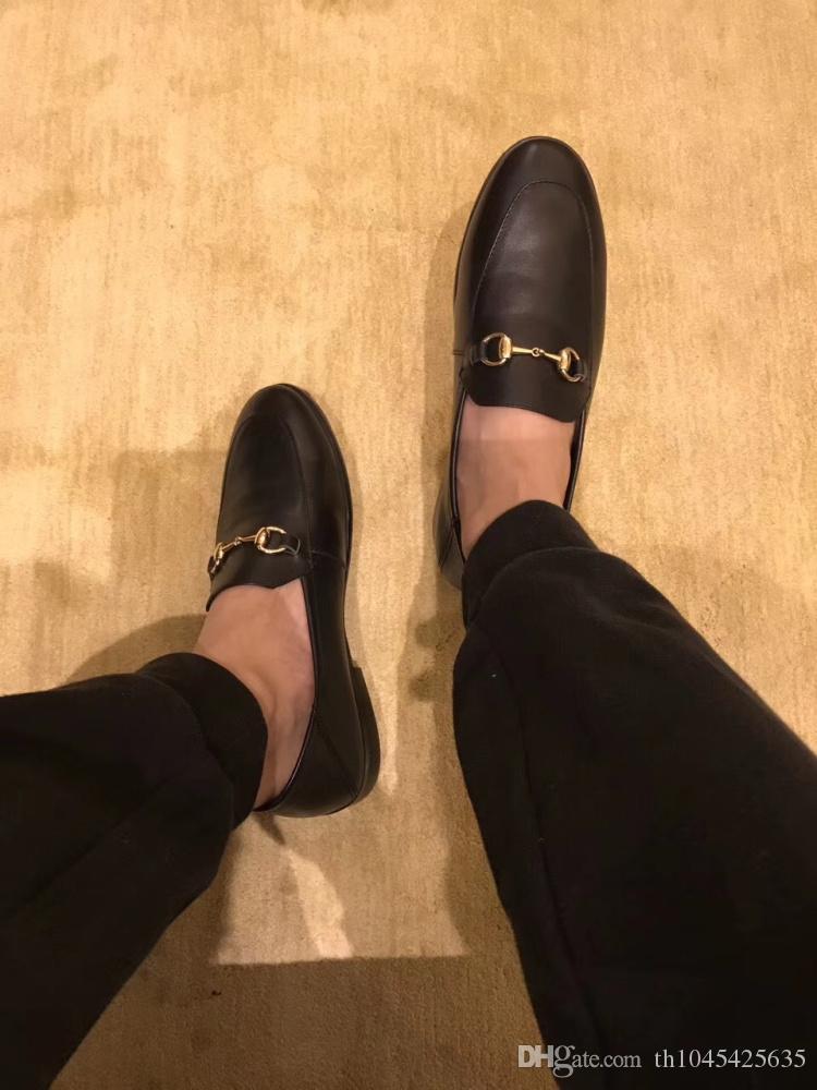 4826846592a Acheter Homme Robe De Noce Oxfords Chaussures Boucles Automne Piste De Bal  Conception Italien En Cuir Véritable De Mode Mules Appartements Casual  Mules ...