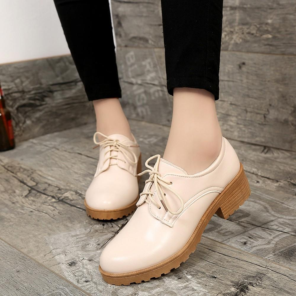 2ee3044e Hot Sale Women s Ladies Shoes Fashion Ankle Oxford Leather Casual Shoes  Short Boots For Dropshipping