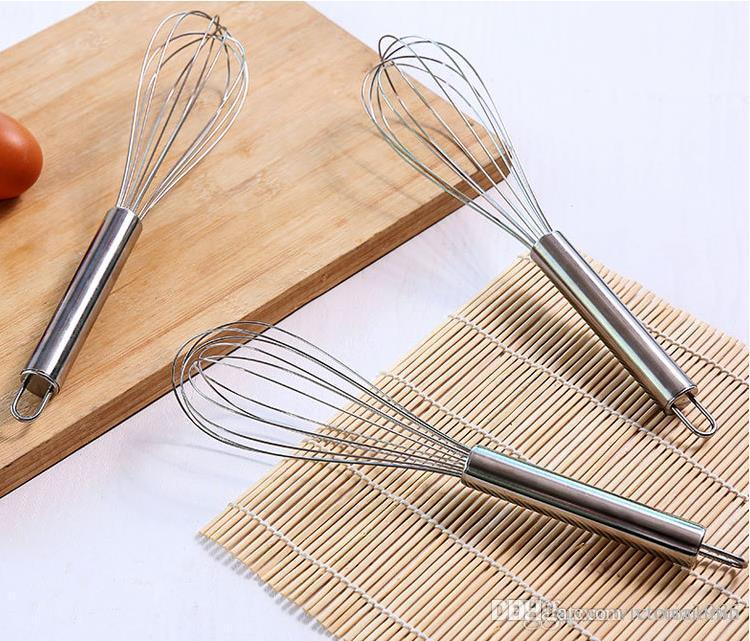8//10//12inches Stainless Steel Balloon Wire Whisk Egg Mixer Baking Utensil Great