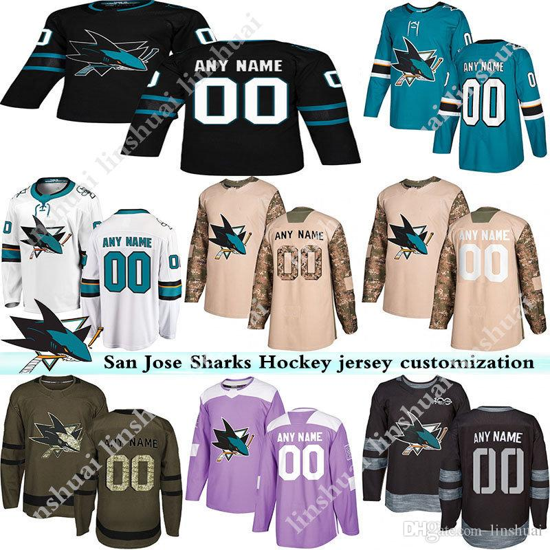 on sale e5de0 51b84 Mens San Jose Sharks jersey 2019 hockey jerseys a variety of styles with  customized any number and any name hockey jerseys S-XXXL