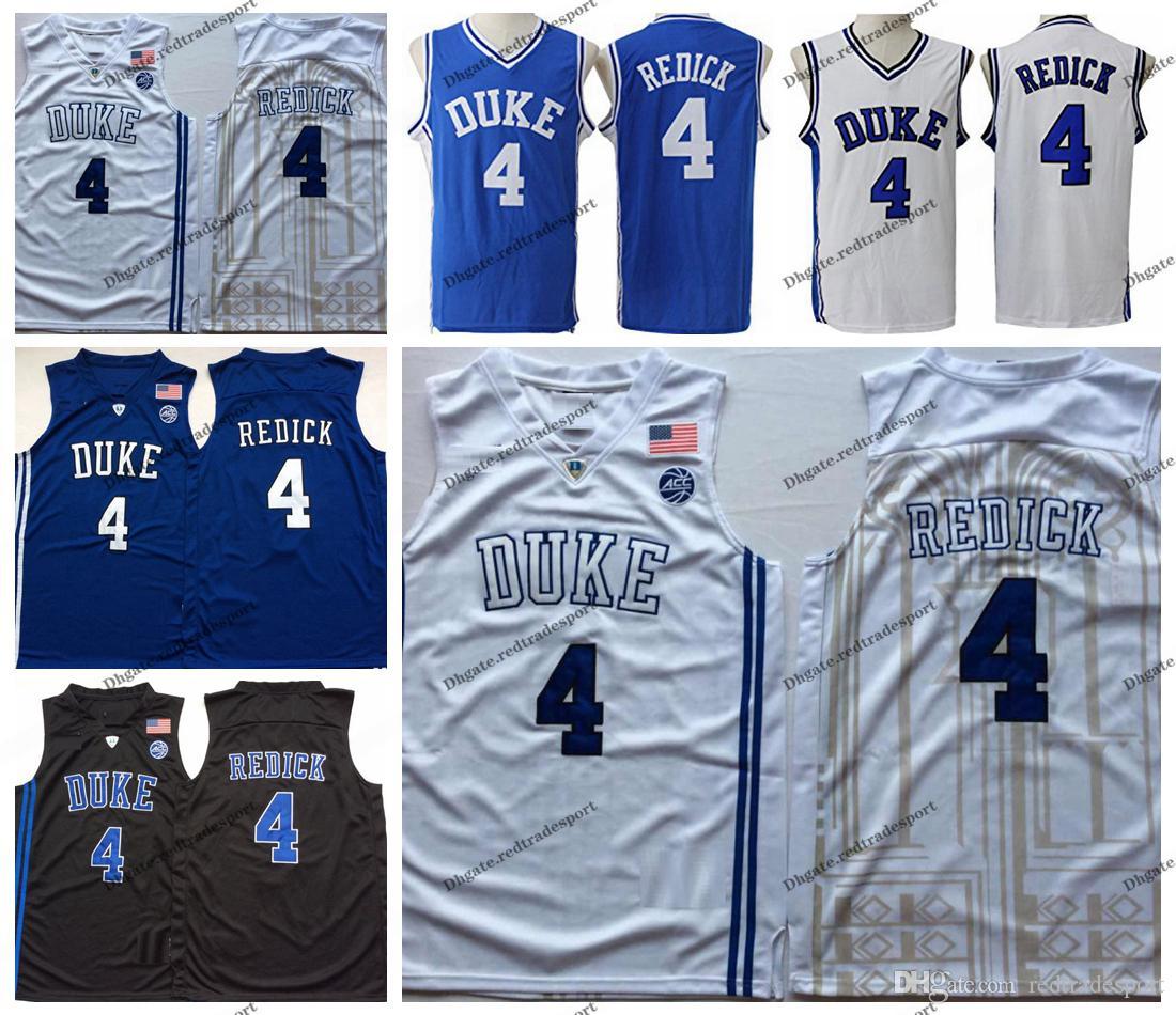 newest aebc4 64597 Mens Duke Blue Devils J.J. Redick #4 College Basketball Jersey Cheap Blue  Black JJ Redick Stitched Basketball Shirts S-XXL