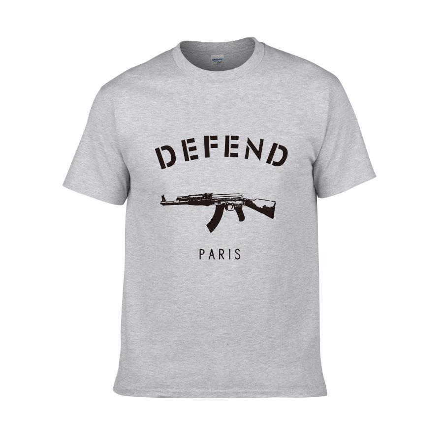 Summer hot style T shirt with short sleeves original SuChao brand DEFEND Paris men's short sleeve T-shirt
