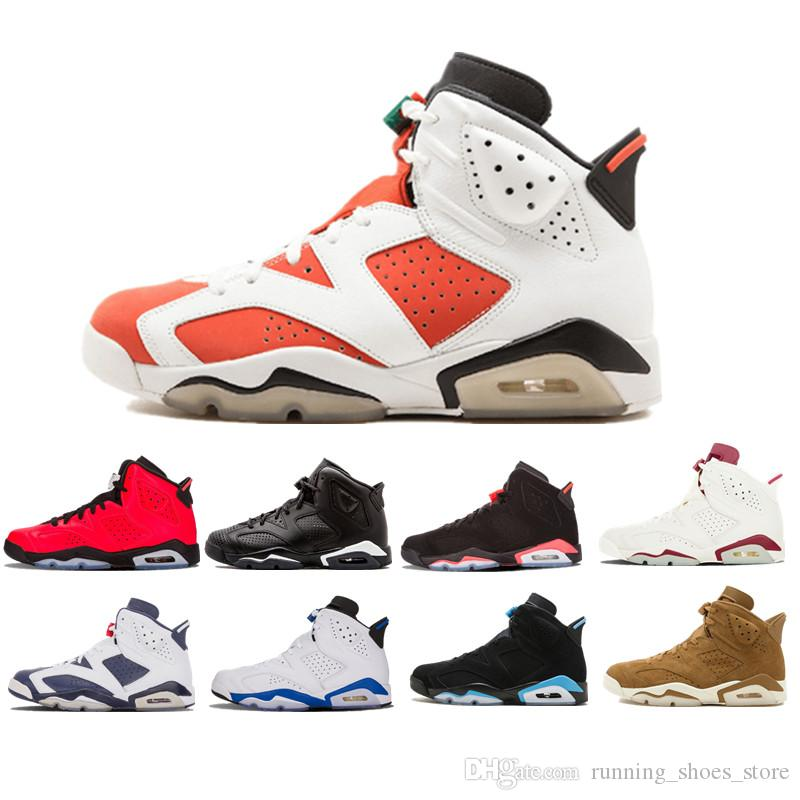 a7cc20659c859f 2019 6 Carmine Basketball Shoes Classic 6s UNC Black Blue White Infrared  Low Chrome Women Men Sport Blue Red Oreo Alternate Oreo Black Cat From ...