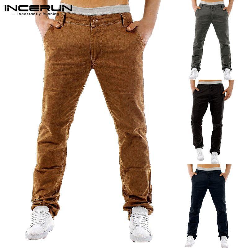 2019 Fashion Cargo Pants Dress Chinos Men Pants Khaki Slim Fit