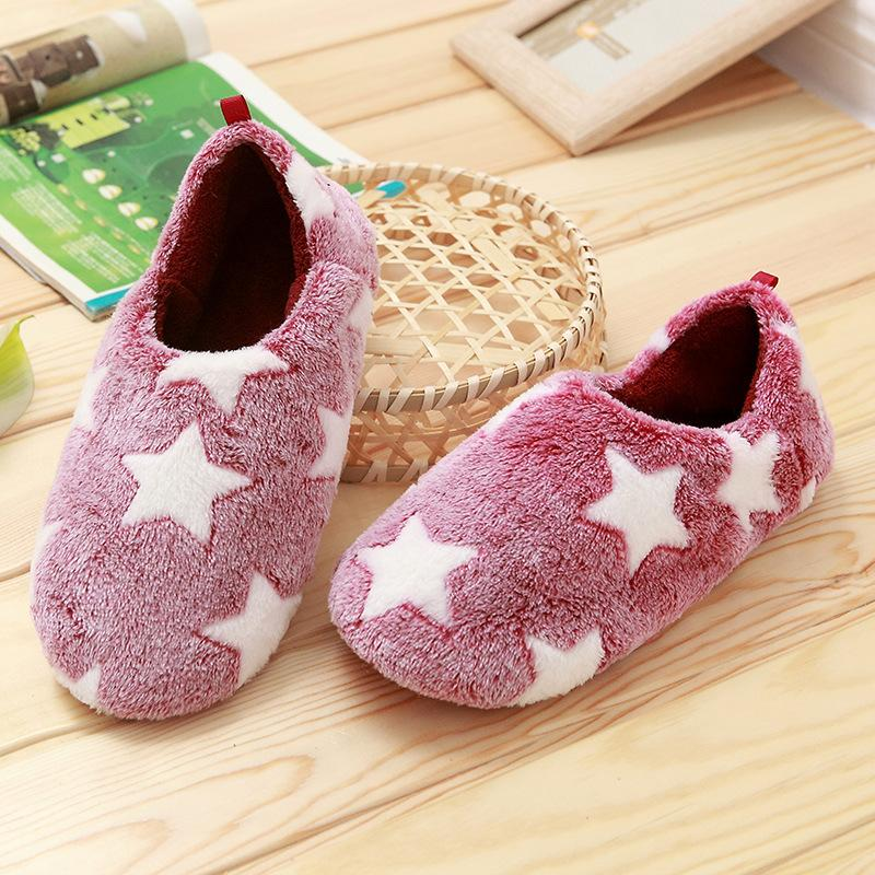 bcf12fd0c Winter Warm Home Slipper Simple Comfortable Fluffy Slides Indoor Flat Shoes  Women Non-slip Cotton Soft Bottom Slippers Women Slippers Winter Slippers  Home ...