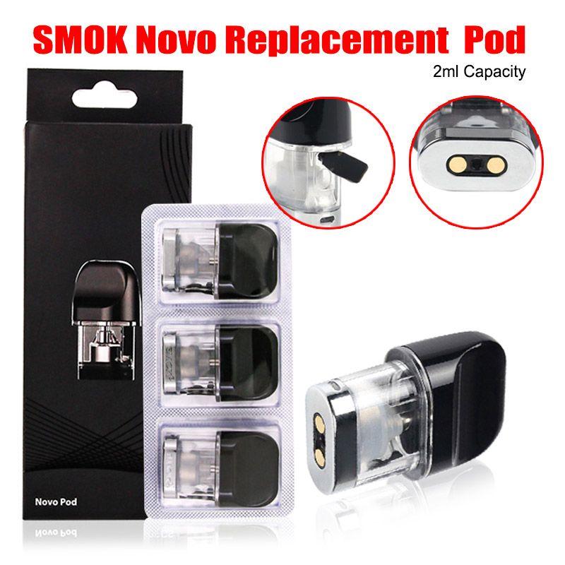 SMOK Novo Cartridge Replacement 2ml Cartridges Tank For Authentic Smoktech  Vape Pod System Starter Kit Portable Device