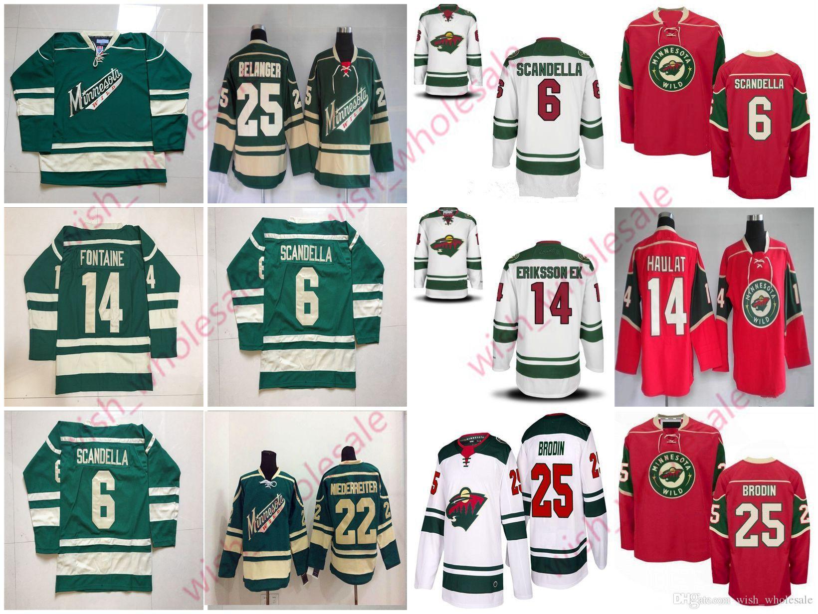 reputable site 20343 5a76a Man's Cheap Minnesota Wild Jerseys 11 Zach Parise Jersey Kevin Fiala Jonas  Brodin Joel Eriksson Ek Stitched High Quality Hockey Jersey