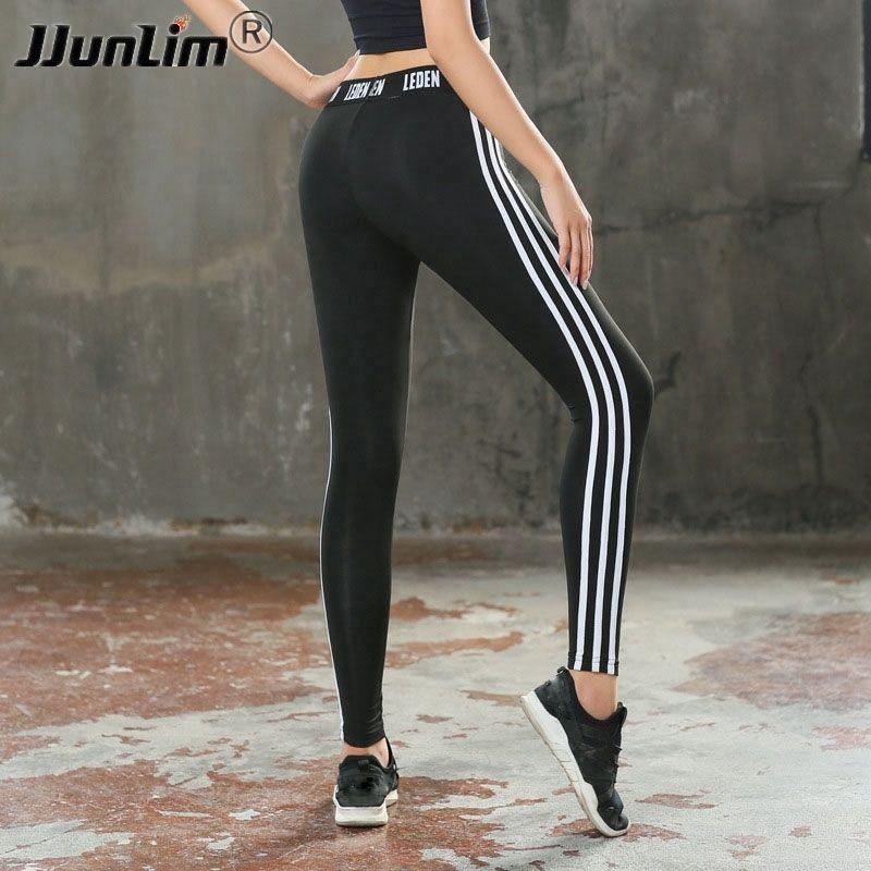 51b45d364d3015 2019 Women Yoga Pant Quick Dry Fitness Leggings Slim Stripe Sports Pants  Women Gym Leggins Sport Trousers Workout Running Tight Pants #249224 From  ...