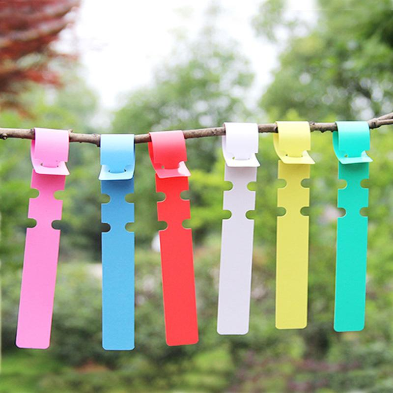 100Pcs Plastic Fences Shape Garden Tags Ornaments Plant Flower Label Nursery Markers Gardening Accessory