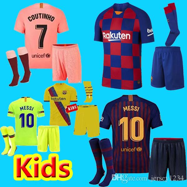 hot sale online be6fa 03223 fc barcelona jersey kids 2019 2020 Third pink 10 Messi shirt 19 20 Soccer  Jerseys kit 9 SUAREZ 23 MUTITI 14 MALCOM maillot de foot Barcelon
