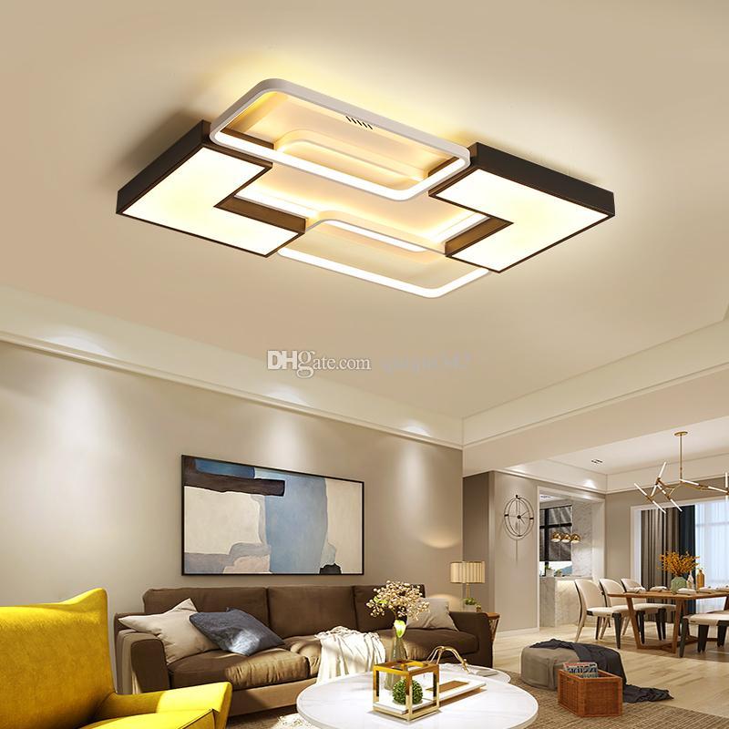 Rechteck deckenleuchte led lampe für wohnzimmer schlafzimmer lampe plafond  avize lustre moderne led deckenleuchte für zu hause