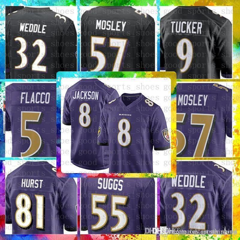 Top Sale 8 Lamar Jackson Baltimore Jersey Ravens 9 Justin Tucker 32 ... 69b1cc065