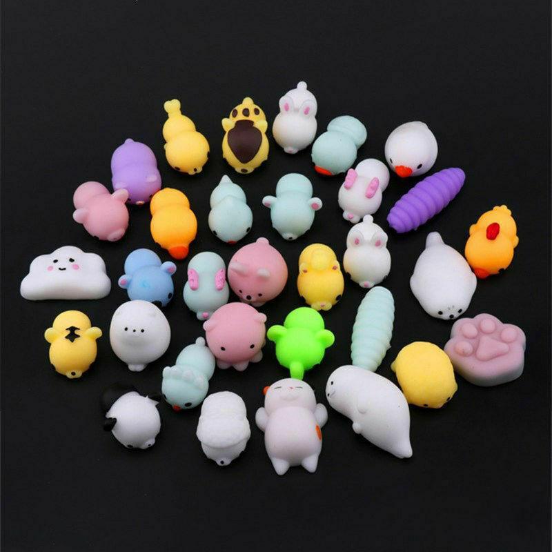 Randamly Направлено Mini Cute Cat Anti-Stress Бал Squeeze игрушки Мягкие Sticky Stress Relief смешной подарок игрушки