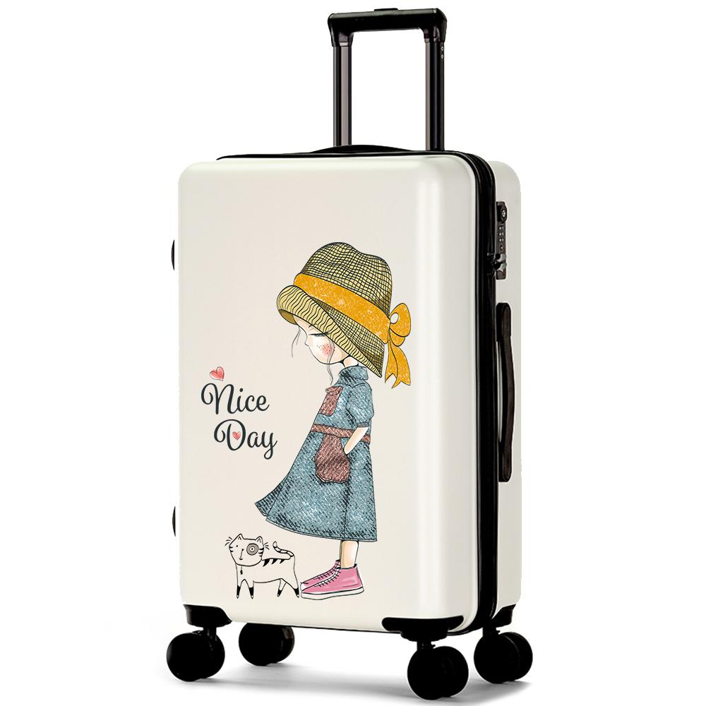 Girls Cute Rolling Luggage Women Spinner Carry On Suitcase With Wheel Men  Fashion Travel Password Trolley Case 18202426 Inch Duffle Bags For Women  Wheeled ... 379829d019