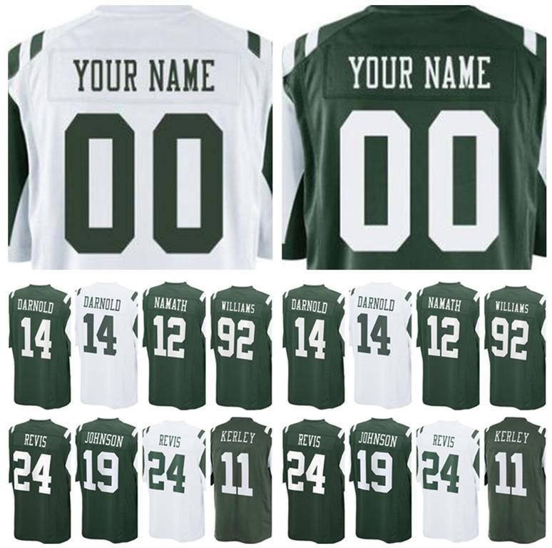 Men s New York 12 Jet Joe Namath 80 Wayne Chrebet Jersey 92 Leonard ... 6106864ae