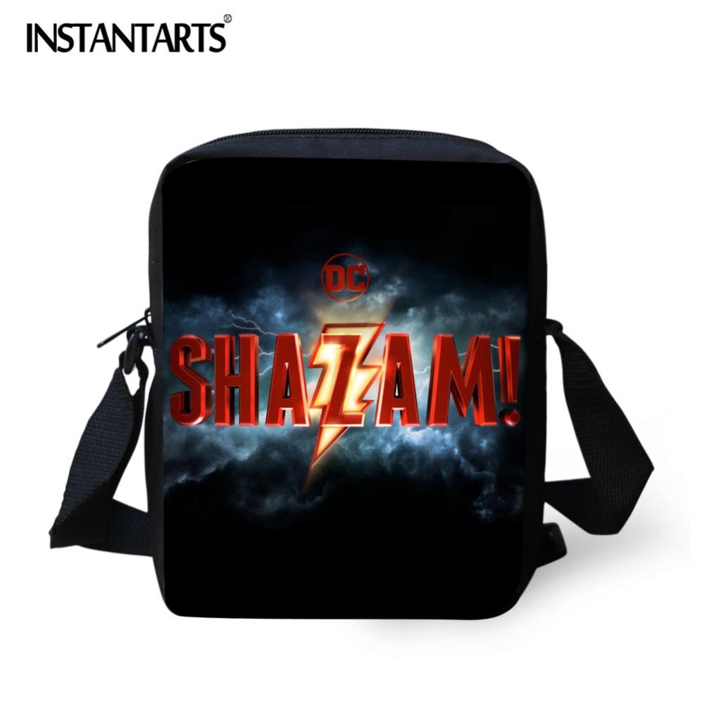 INSTANTARTS Shazam Movie Printing Crossbody Bags School Student Mini  Messenger Bags Custom Design Bookbags Children Shoulder Bag