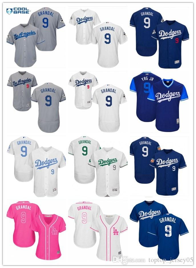 b464f7e498b 2018 top Los Angeles Dodgers Jerseys #9 Grandal Jerseys  men#WOMEN#YOUTH#Men's Baseball Jersey Majestic Stitched Professional  sportswear