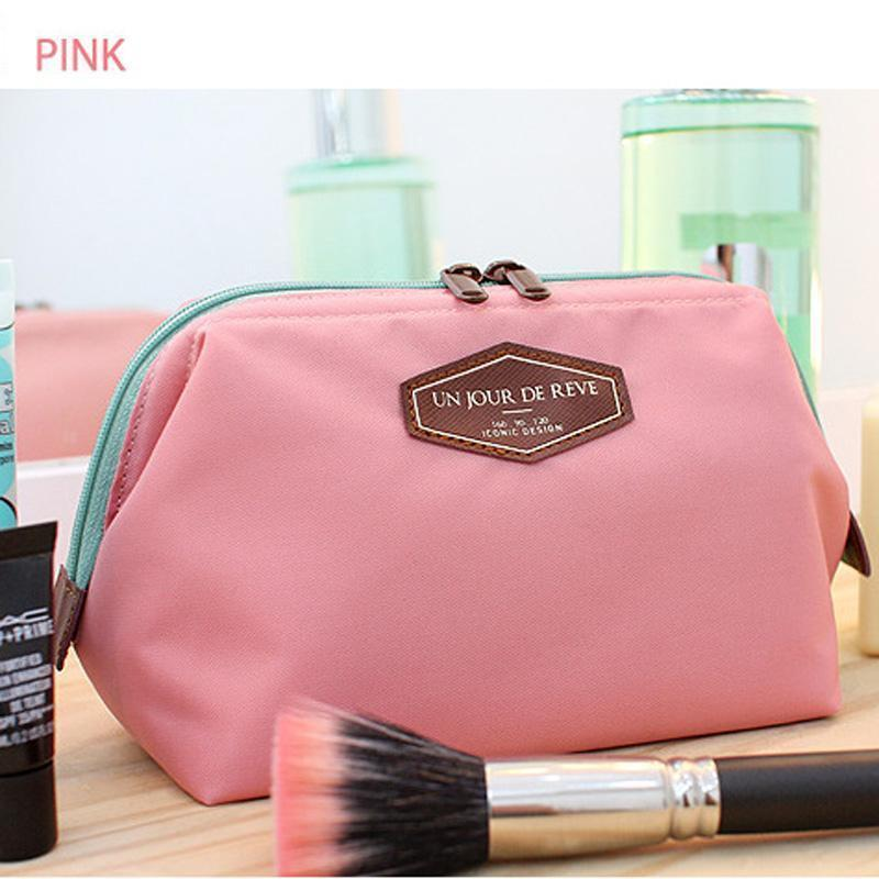 Wholesale- Nice NEW Vintage Make Up Cosmetic Bags Women Travel Bag Organizer Bag Women Cosmetic Makeup Cotton Cases Lady 5 Colors