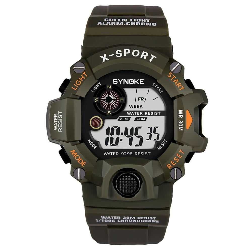 aa747d4ee Men Sports Watches Countdown Chrono Double Time EL Light Digital  Wristwatches 30M Water Resistant Relogio Masculino Cheap Watch Cheap Watches  Online From ...