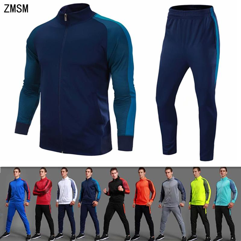 95a56c4f634 2019 ZMSM Teens Adult Autumn Winter Tracksuit Running Sets Soccer Jackets  Pants Outdoor Jogging Fitness Coat Football Training Suit From Pekoe