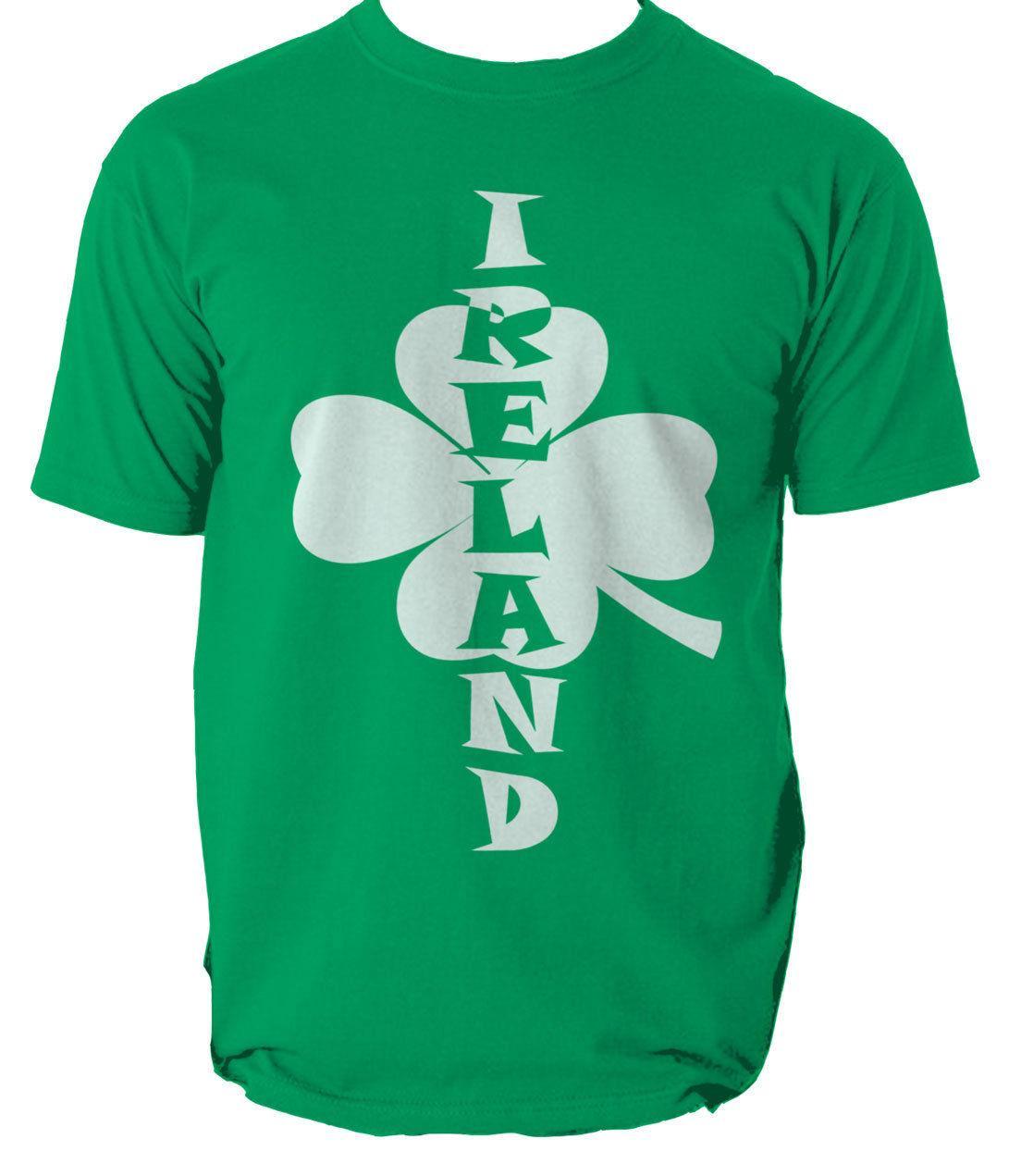 Ireland Printed T-Shirt St Patricks Day Paddys Irish Mens Girls Tee Top New Size