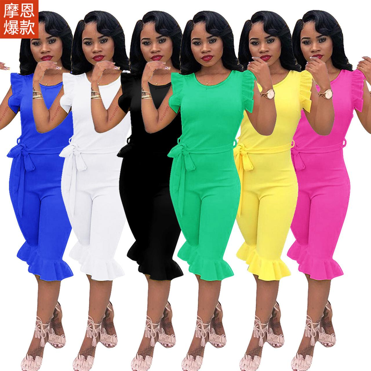 3e484c59ab Women Clothes Two Piece Sets Woman Set Womens Sweat Suits Joggers Vest  Jumpsuit Amazon Explosions Foreign Trade Explosion Models Online with $53.9/ Piece on ...