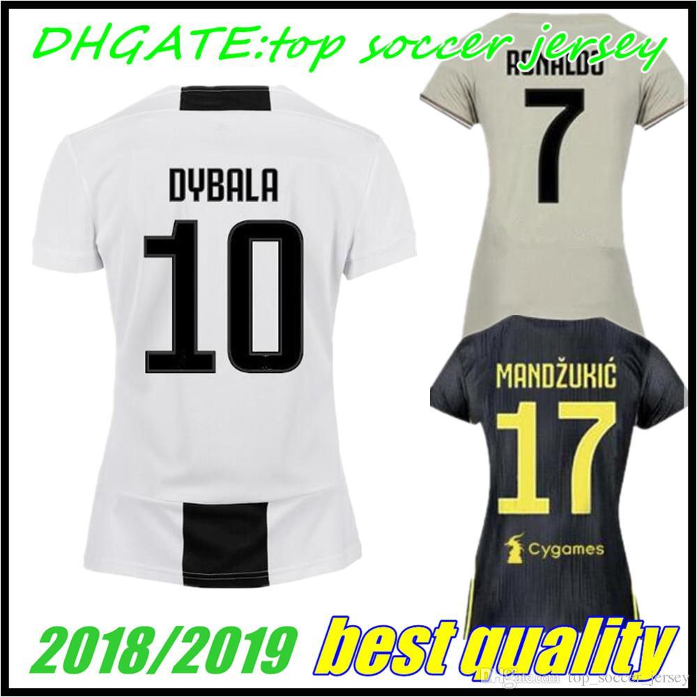 8db731f30 Compre 18 19 Feminino Juventus EA Sport Camisa De Futebol 2018 7 RONALDO 9  HIGUAIN 10 DYBALA 11 17 MANDZUKIC 1 BUFFON 33 BERNARDESCHI Uniformes De  Futebol ...