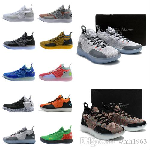 d4ceae2b3bfb 2019 New Kevin Durant Kd 11 Basketball Shoes Mens Durant Gold Championship  MVP Finals Training Sneakers Sport Running Shoes Size 40 46 Shoes Brands ...