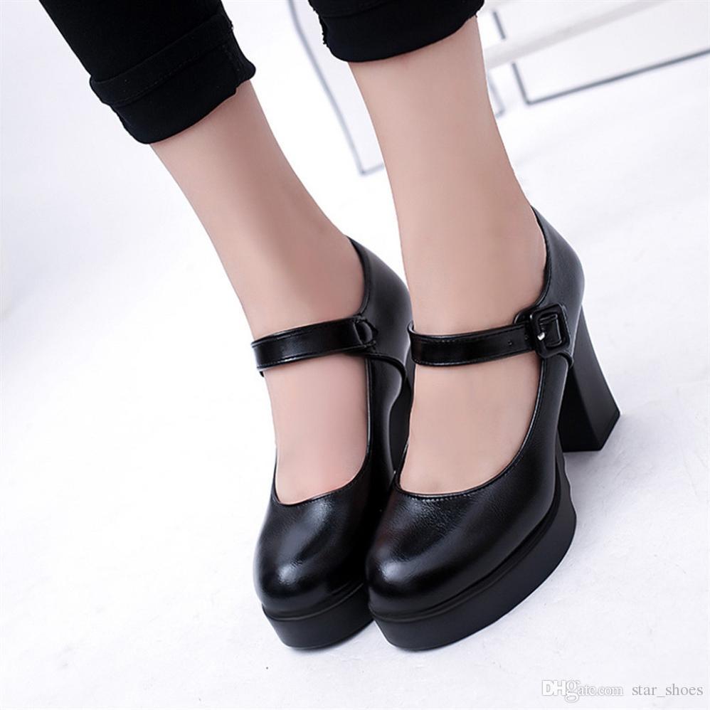 YOUYEDIAN Women Casual Women Pump High Heel Thick Heels Platform Pumps  Women S Shoes Ankle Work Buckle Strap Shoes  w35  9722 Designer Shoes High  Heel Shoes ... 46ea63b5008b