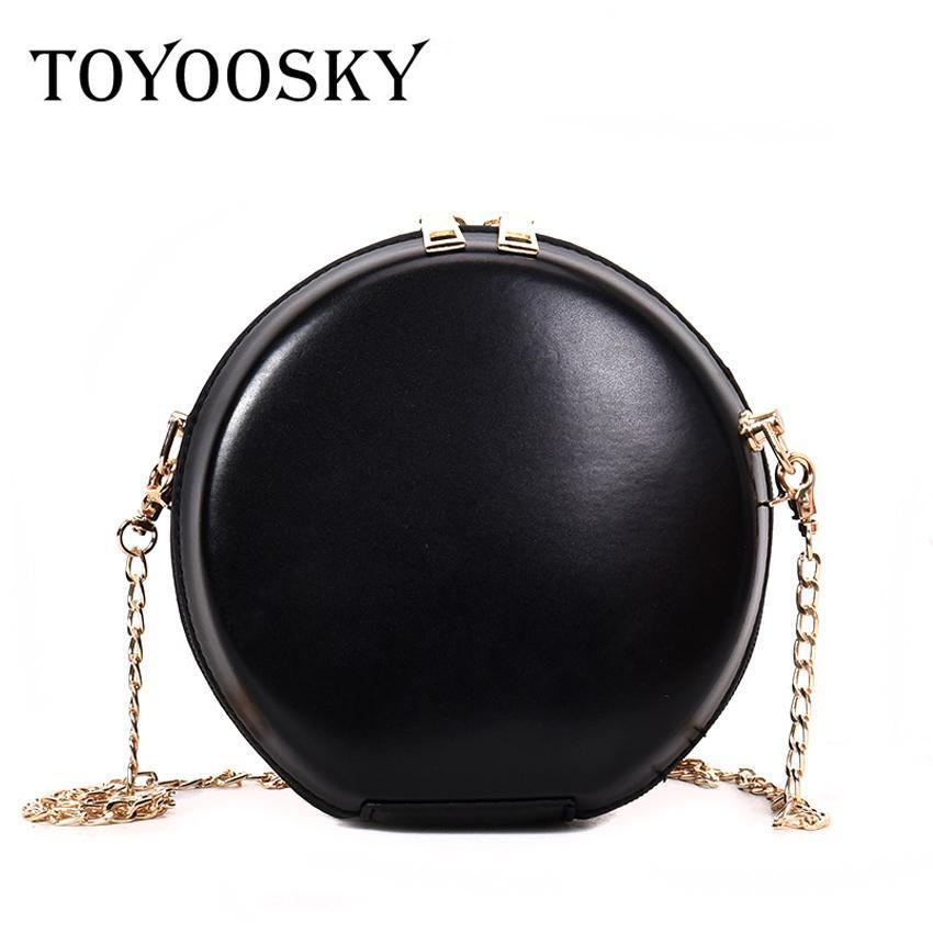 TOYOOSKY New Women S Round Bags Pu Leather Circle Box Handbags Messenger Bag  For Lady Causal Shoulder Bags Circular Bag Wholesale Bags Discount Designer  ...