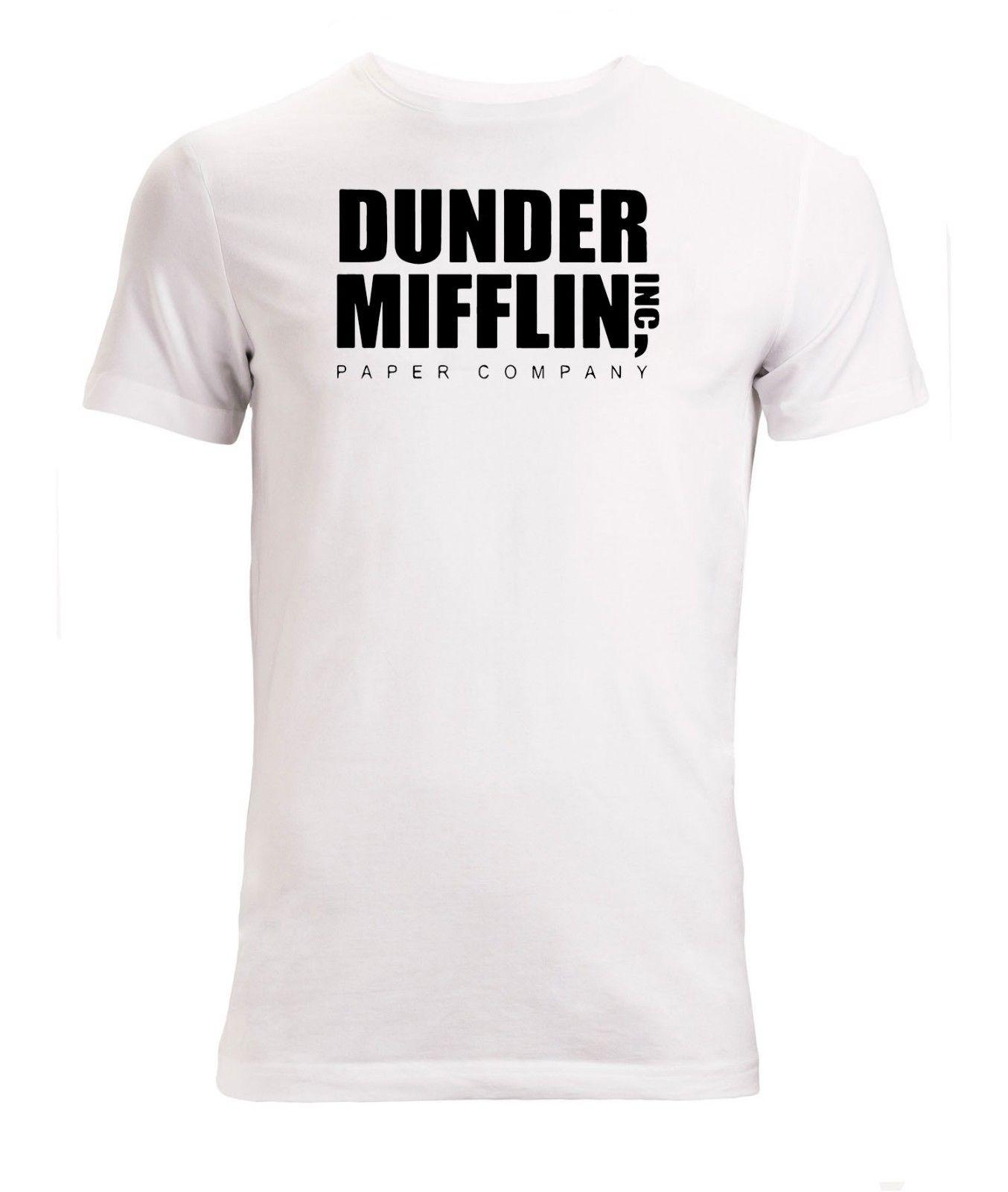 af5e7b33 Dunder Mifflin Inc Paper Company The Office Men's White T-Shirt Sizes  S-XXLFunny free shipping Unisex Casual Tshirt top