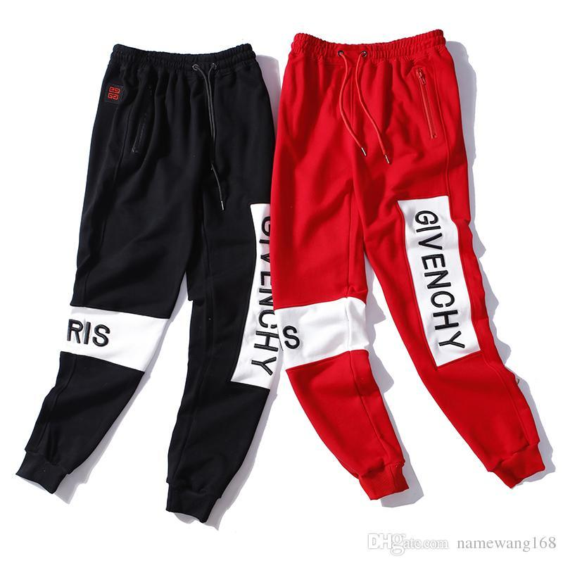 d34d254ae10c 2019 Mens High Quality Letter Embroidery Sweatpants Designer Track Jogging Pants  Womens Yoga Joggers Track Streetwear Tech Fleece Sweat Pants From ...