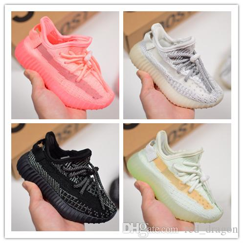 Designer Brand 35O Kids Shoes Baby Toddler Run Kanye West Running Trainers Butter Semi Zebra V2 Children Boy Girl Beluga Sneakers