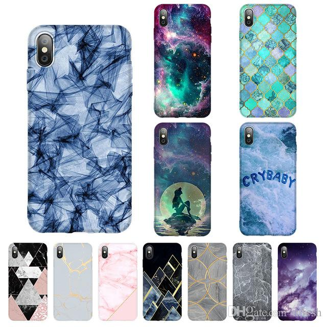 Marble Phone Case For Iphone 7 8 Xs Max Case Soft Tpu Cover Anti Knock Cellphone Cover Iphone X Xr Xs 6 6s Plus 5 Se Tpu Cases
