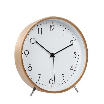 Decoration Desk Simple Alarm Office Desktop Snooze Function Mute Bedroom Clock Pendulum Silence Table Vintage Wooden Clock Ly453 Y19062704