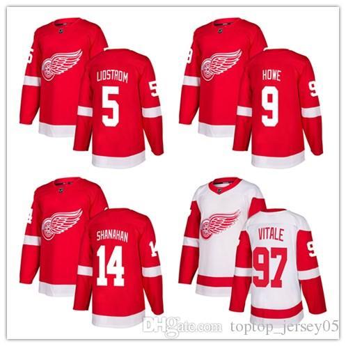 58c0d4e9ce1 2019 2018 Detroit Red Wings Jerseys #5 Nicklas Lidstrom 9 Gordie Howe 14  Brendan Shanahan Jersey Men#WOMEN#YOUTH#Men'S Baseball Jersey From  Toptop_jersey05, ...