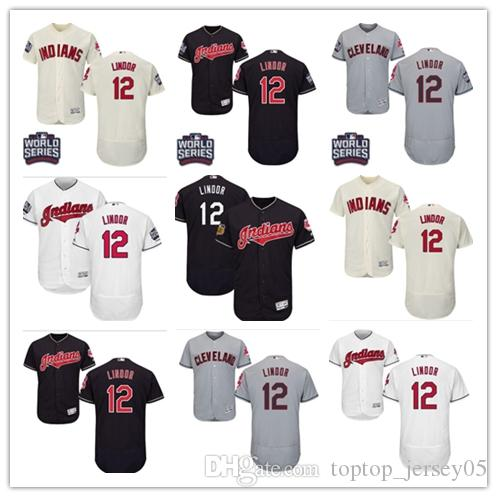 quality design 27a56 d0fc7 2018 Cleveland Indians Jerseys #12 Francisco Lindor Jerseys  men#WOMEN#YOUTH#Men s Baseball Jersey Majestic Stitched Professional  sportswear