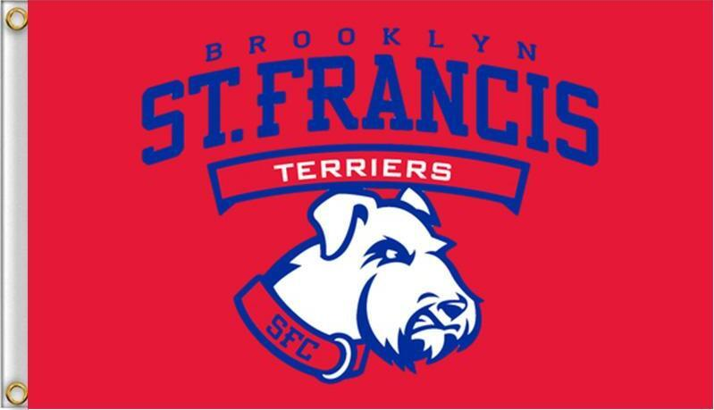 Francis Brooklyn Terriers Bayrak 90x150 cm Polyester NCAA Stars And Stripes Açık Banner