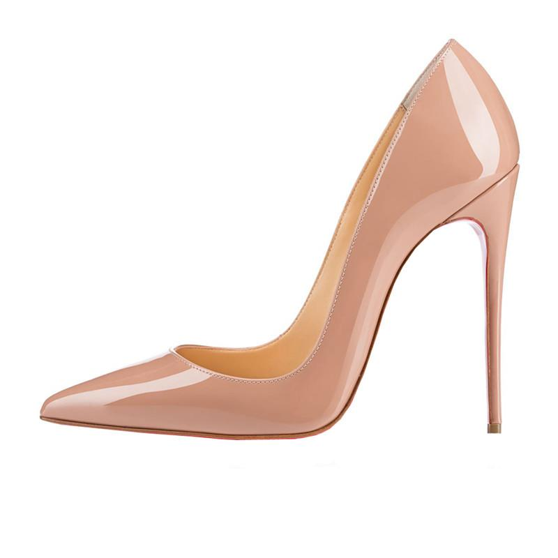 c45f4015f38f ZK Women Sexy High Heels Pointed Toe Pumps Office Shoes Party Shoe Fashion Stiletto  High Heel Pump Pu Patent Leather 12cm High Heel Shoes Mens Casual Shoes ...
