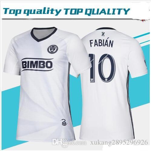 wholesale dealer 0d7b8 eb932 2019 MLS Philadelphia Union Away White Soccer Jerseys 19/20 #9 PICAULT #11  BEDOYA #19 BURKE Soccer Shirt 2019 Philadelphia Football Uniform