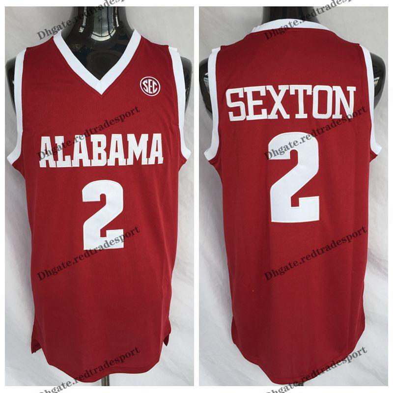 size 40 2c562 deb12 Mens Alabama Crimson Tide Collin Sexton College Basketball Jerseys Cheap  Mens Collin Sexton Red #2 Stitched Shirts S-XXL