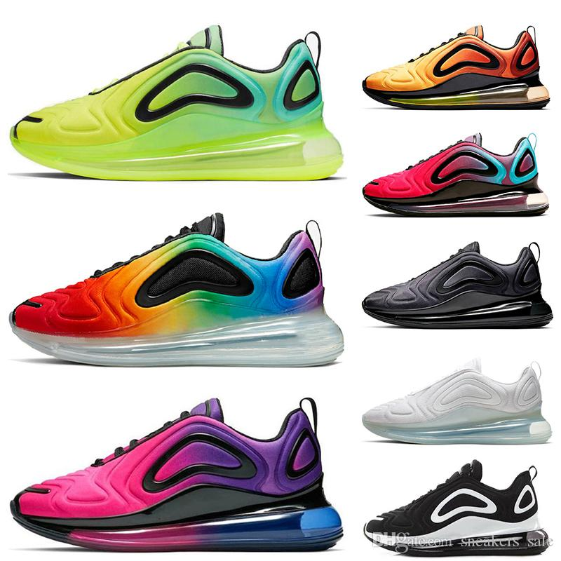 nike air max 720 Moda Total Eclipse Sea Forest 720 Hombres Mujeres Zapatos Para Correr Northern Lights Day Sunrise Negro Oro Rojo 72c Hombres